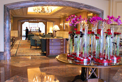 Boston Harbor Hotel Lobby with Flowers