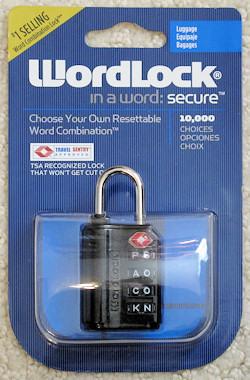 WordLock in its packaging.