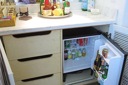 In room mini-bar and snacks