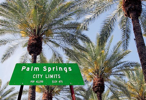 Palm Springs California City Limits sign