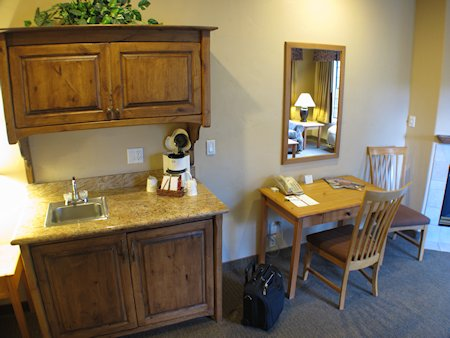 Hutch & desk in a Sedona Real suite