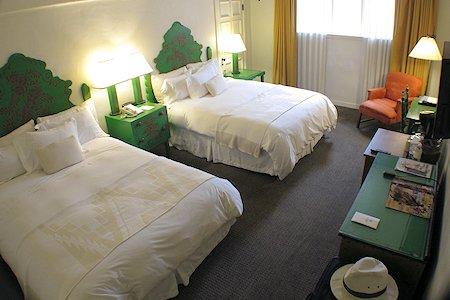 Double room at La Fonda Hotel
