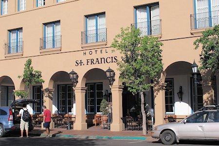 Entrance to Hotel Saint Francis in Santa Fe New Mexico