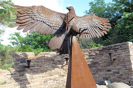 Beautiful sculpture on the grounds of the Inn At Loretto.