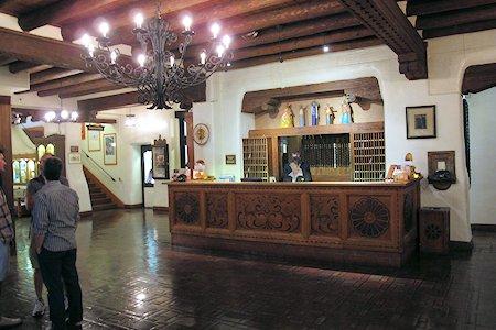 Lobby at the Hotel La Fonda in Santa Fe New Mexico