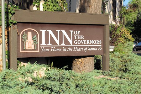 Front of the Inn Of The Governors in Satna Fe, New Mexico