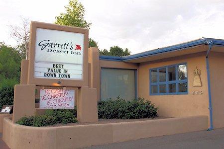 Front of Garrett's Desert Inn, Santa Fe, New Mexico