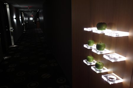 Apples are part of the art of this hotel. Help yourself.