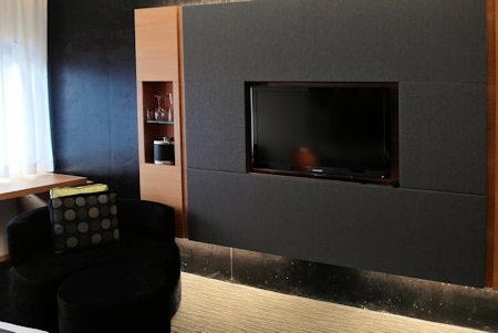 HDTV built into the wall