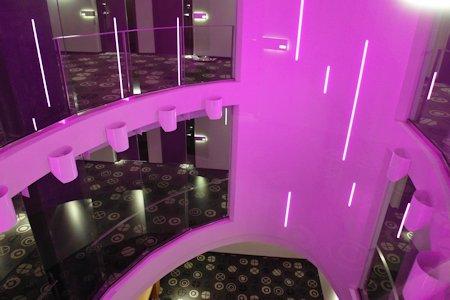 Hotels interior light shaft.