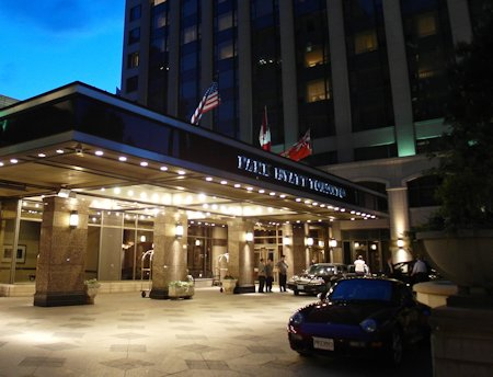 Entrance to the Park Hyatt Toronto Hotel