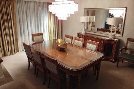 Suite dining room in Park Hyatt Toronto