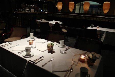 Table at Annona Restaurant in the Park Hyatt Toronto