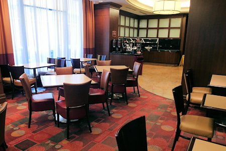 Breakfast area at Residence Inn Downtown Toronto
