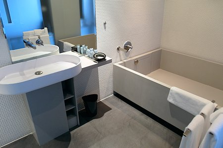 Modern bathroom at the Templar Hotel Toronto