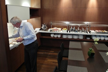 Breakfast service at Hotel Le Germain