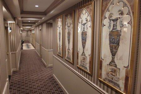 Top floor hallway of Park Hyatt Toronto