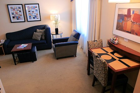 One Bedroom Suite Interior, Residence Inn Downtown Toronto