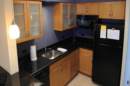 1 Bedroom Suite kitchen area, Residence Inn Downtown Toronto