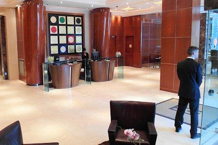 View of lobby at SoHo Metropolitan Hotel Toronto