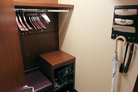 Closet of a 1 bedroom suite