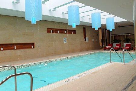 Hotel's indoor pool at the Shangri-la Toronto