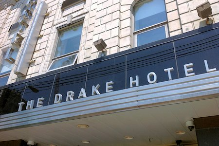 Entrance to The Drake Hotel in Toronto Ontario Canada