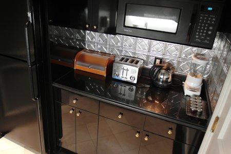 Butler's pantry behind bar in Suite at Park Hyatt Toronto
