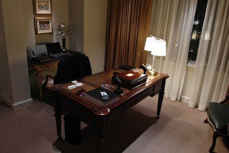 Suite office area in Park Hyatt Toronto