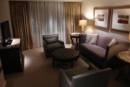Suite bedroom sitting area