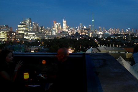 View from the roof top lounge at Park Hyatt Toronto