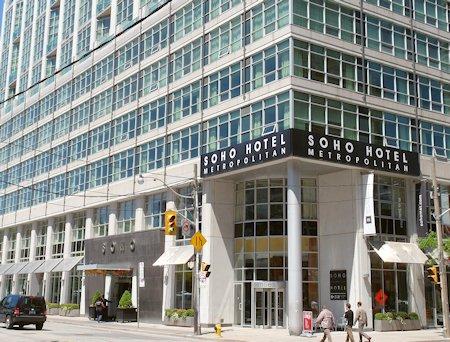 Exterior of SoHo Metropolitan Hotel in Toronto, Ontario
