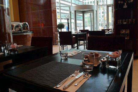 Lobby cafe at SoHo Hotel Metropolitan Toronto