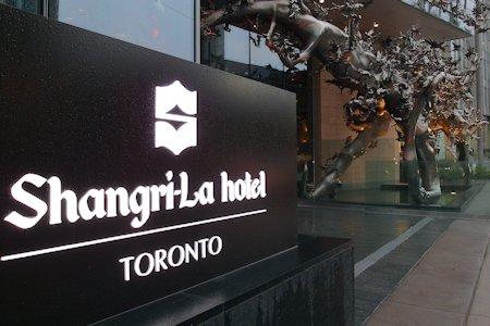 Sign for Shangri-La Hotel Toronto
