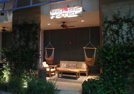 Entrance to the Sense Beach House, South Beach, Miami Florida
