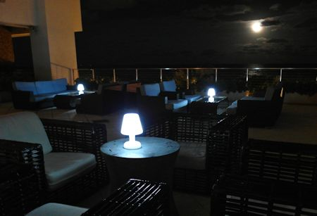 Found this romantic moonlit patio overlooking the Atlantic at the Canyon Ranch Hotel & Spa, Miami Beach, Florida