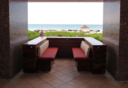 Quite little spot I found overlooking the beach at the Canyon Ranch Hotel & Spa, Miami Beach, Florida