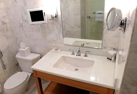 Lovely bathroom at the Fontainebleau Hotel, Miami Beach Florida