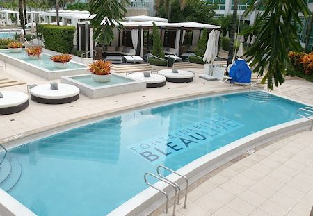 One of the many pools at the Fontainebleau Hotel, Miami Beach Florida