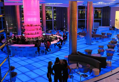 Historic Bleau Bar just off the lobby of the Fontainebleau Hotel, Miami Beach Florida