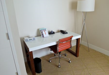 Nice guestroom desk at the Eden Roc Hotel in Miami Beach, Florida