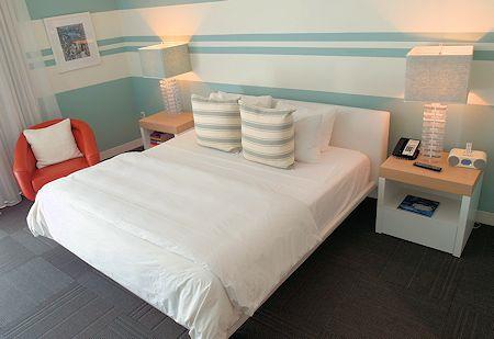 Interior of guest room. Sense Beach House, South Beach, Miami Florida