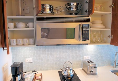 Lots of kitchen supplies/equipment are provided at Canyon Ranch Hotel & Spa, Miami Beach, Florida