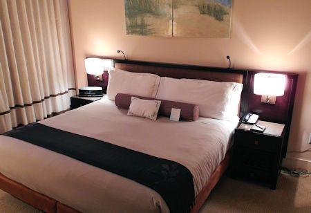 Comfortable pillow top bed. Canyon Ranch Hotel & Spa, Miami Beach, Florida