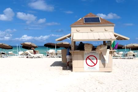 Hotel provides staff & services on the beach at the Canyon Ranch Hotel & Spa, Miami Beach, Florida