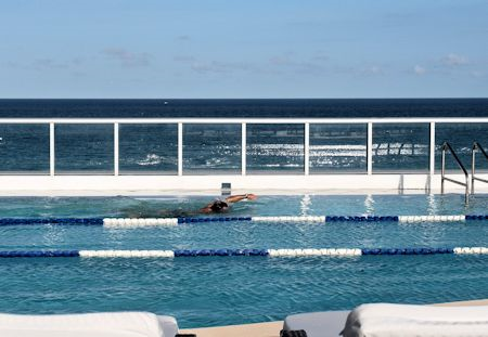 Rooftop pool at the Canyon Ranch Hotel & Spa, Miami Beach, Florida