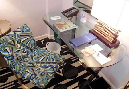 Comfortable desk at The Surfcomber Hotel Miami | South Beach, Florida