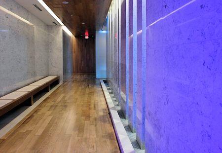 Entrance to the impressive spa facility of the Fontainebleau Hotel, Miami Beach Florida