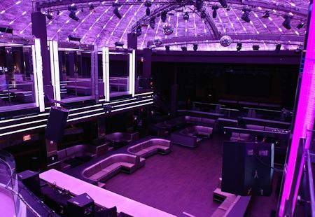 """The """"LIV"""" dance club / lounge just off the lobby of the Fontainebleau Hotel, Miami Beach Florida"""