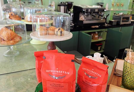 Coffee shop at The James Royal Palm Hotel, South Beach, Miami Florida